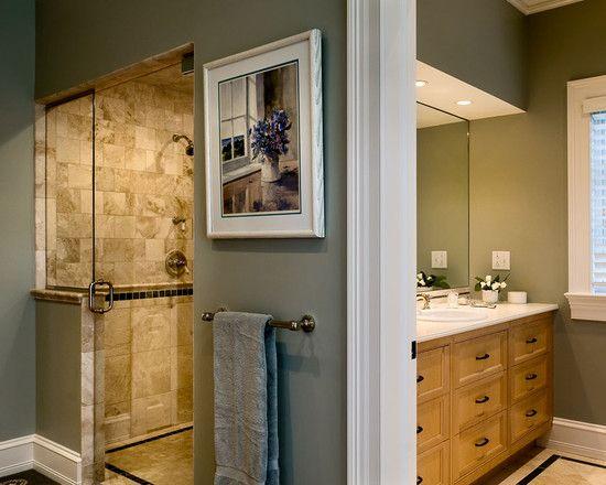 Home Design Long shower possibility by dividing big bathroom