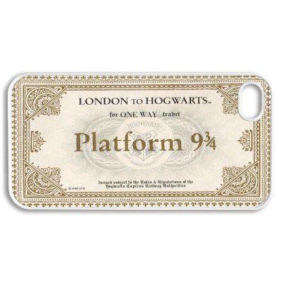 Apple Iphone 4 4g 4s Hogwarts Train Ticket Harry Potter Inspired Design White Sides Slim Hard Case S Harry Potter Iphone Hogwarts Express Ticket Hogwarts Train