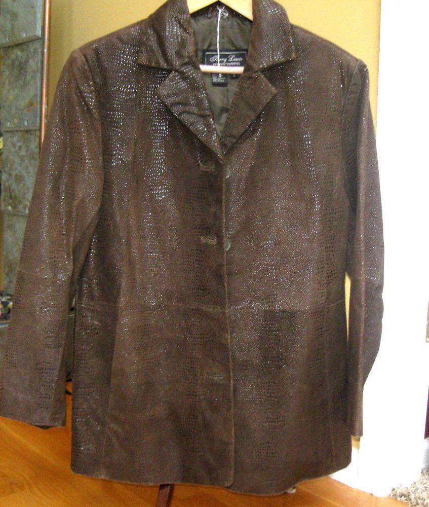 Women S Terry Lewis 100 Leather Jacket Blazer Coat Size S Brown Metalilc Blazer Coat Leather Jacket Blazer Jacket