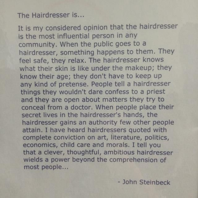 The Hairdresser By John Steinbeck