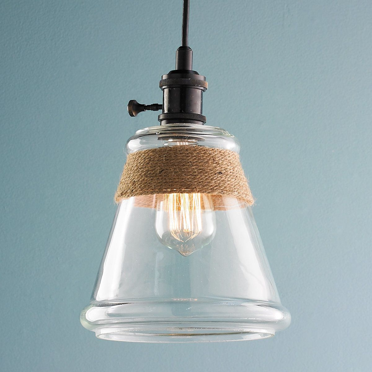 Clear glass rope pendant light pendant lighting lights and kitchens clear glass rope pendant light mozeypictures Images