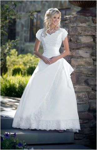 Vestido de novia modesto!   Cosas para ponerse   Pinterest ...