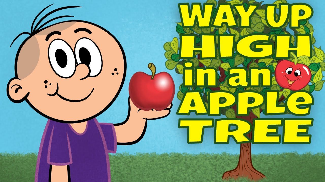 """""""Way Up High in an Apple"""" is a popular activity song that"""