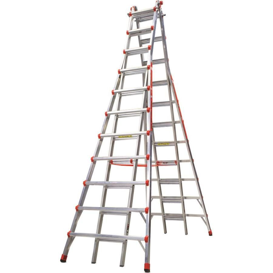 Little Giant Ladders Skyscraper 21 Ft Aluminum Type 1a 300 Lbs Capacity Telescoping Step Ladder Lowes Com Step Ladders Aluminium Ladder Ladder