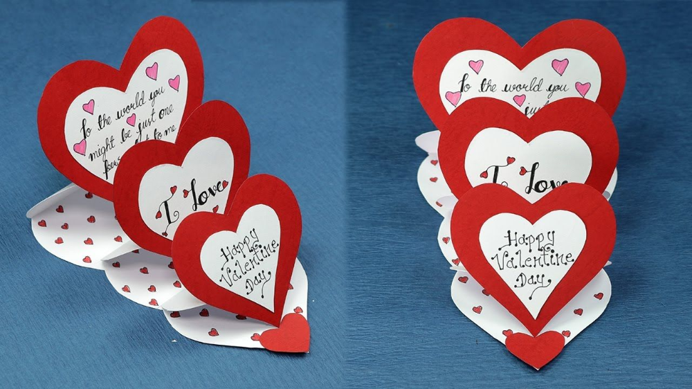 Diy Amazing Greeting Card Design For Valentine S Day Live Enhanced Valentines Cards Homemade Valentine Cards Valentine Card Crafts