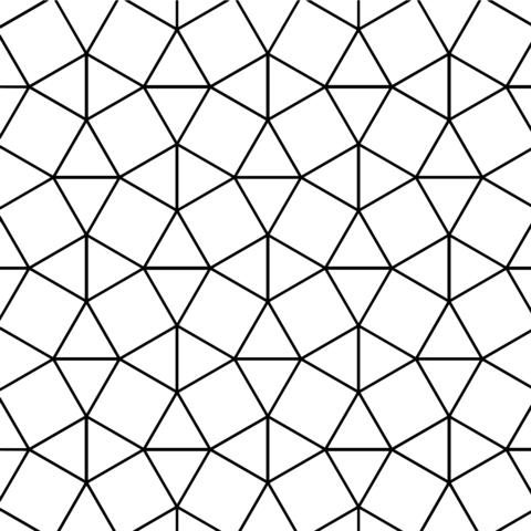 Teselado con Baldosas Cuadradas y Triangulares Dibujo para colorear ...