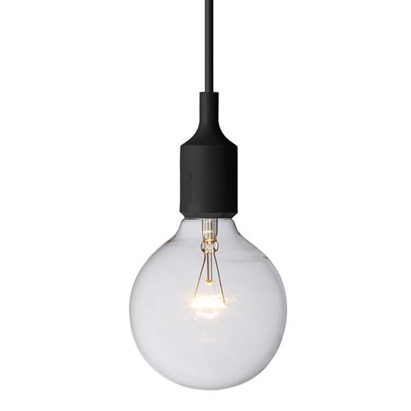E27 socket lamp black pendants lighting finnish design shop