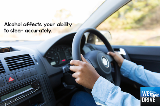Alcohol alters the liquid in your ear canals, which can affect your sense of balance. This means that steering accurately and applying appropriate pressure to the brakes/accelerator is difficult for someone who is intoxicated... If you feel like your sense of balance isn't spot on after a drink, play it safe and call WeDrive.