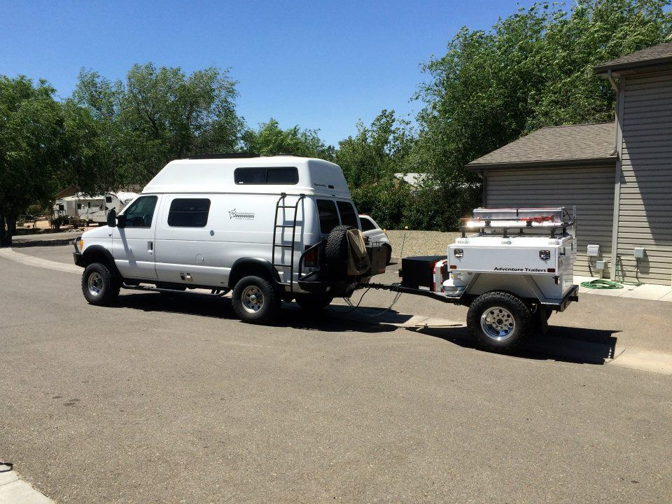 AT Overland Equipment And Sportsmobile With Aluminess Gear Front Rear 4x4 VanConversion