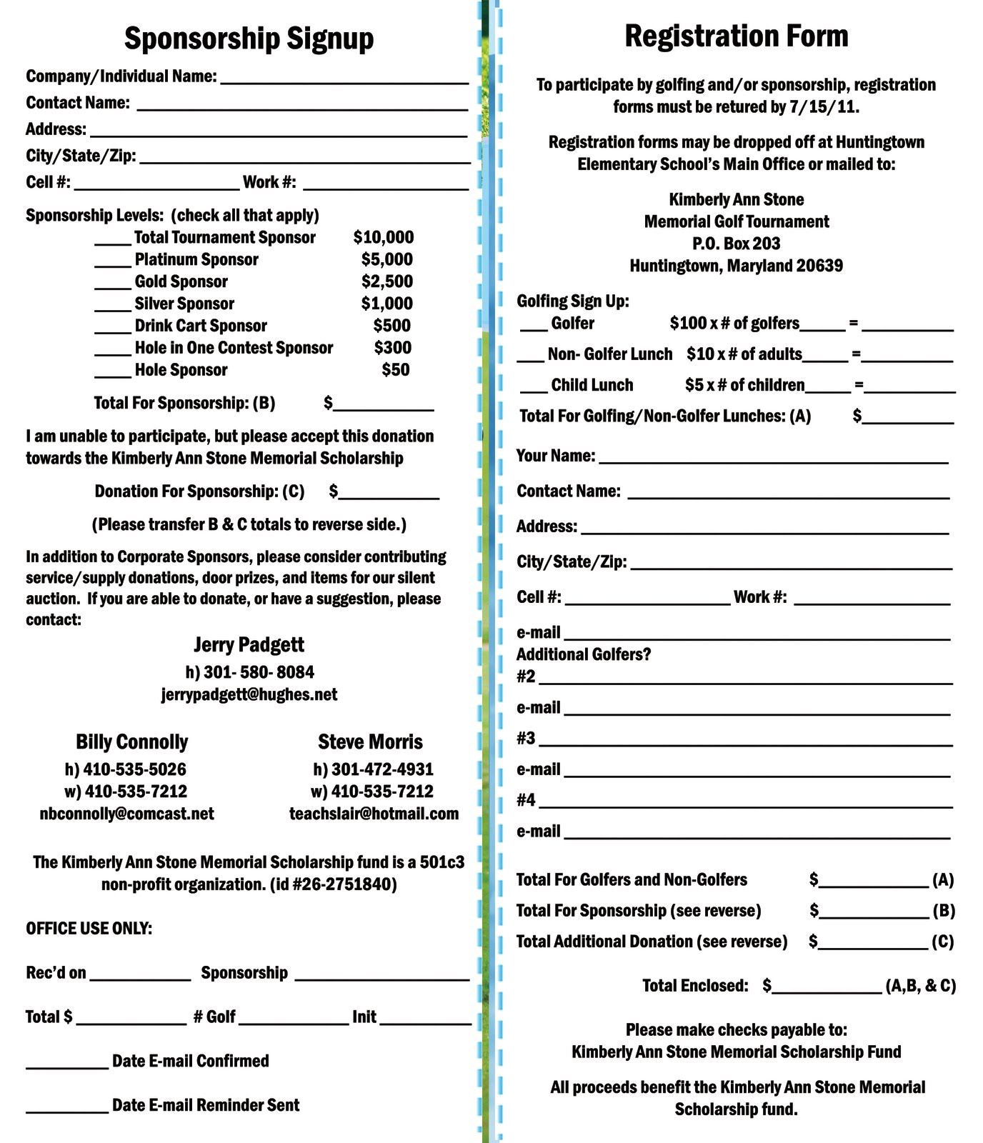When planning a golf tournament, using a registration form is essential. Kimberly Ann Stone 4th Annual Memorial Golf Tournament Registration Form Golf Outing Golf Tournament Ideas Fundraising Golf Fundraiser