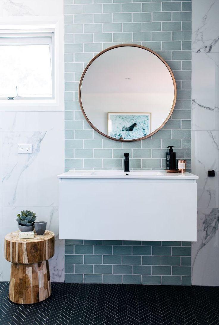 Bathroom. Duck Blue. White brick tiles.   bathroom   Pinterest ...