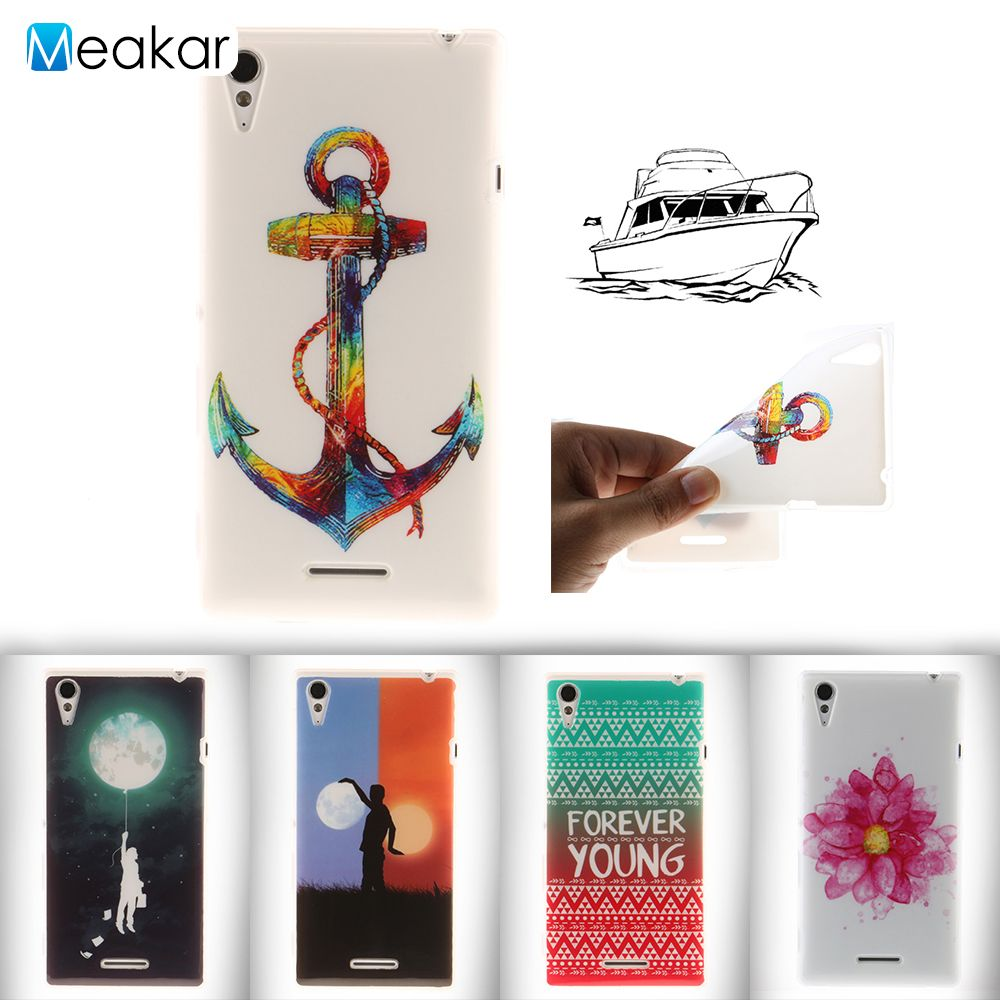Fashion Coloured Drawing Tpu 53for Sony Xperia T3 Case For Nillkin Hard Meizu M3s D5106 M50w