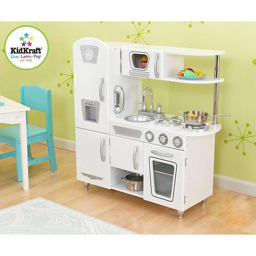 """Kidkraft White Vintage Uptown Retro Kitchen Playset For: KidKraft Vintage Kitchen Set - KidKraft - Toys """"R"""" Us"""