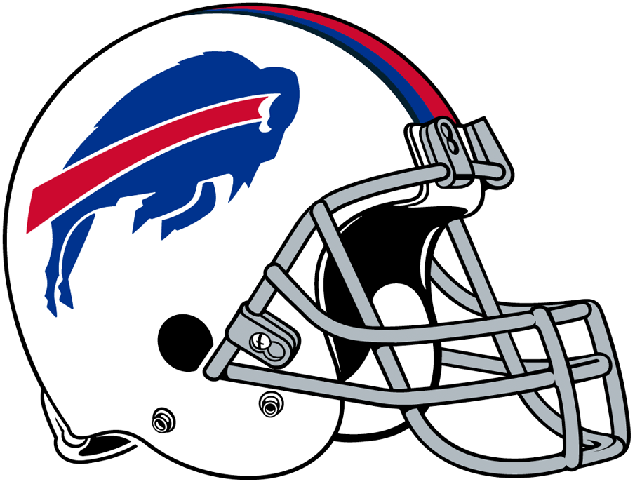 Buffalo Bills Helmet 2011 Pres White Helmet Blue Leaping Buffalo Logo With Red Blue And Navy Stripes Buffalo Bills Football Buffalo Bills Bills Football