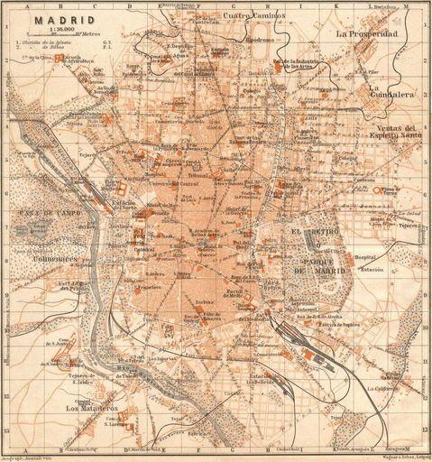 Madrid En 1901 Mapa Madrid Mapa De España Fotos Antiguas Madrid