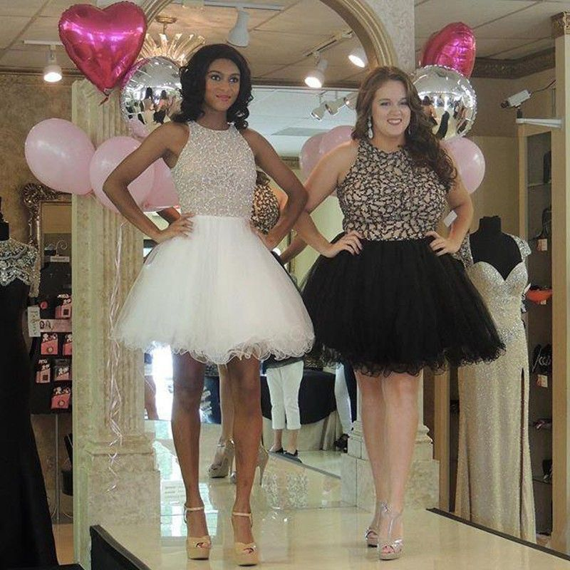 Click To Buy Vintage Sparkly Sexy Beaded Short Prom Dresses Plus