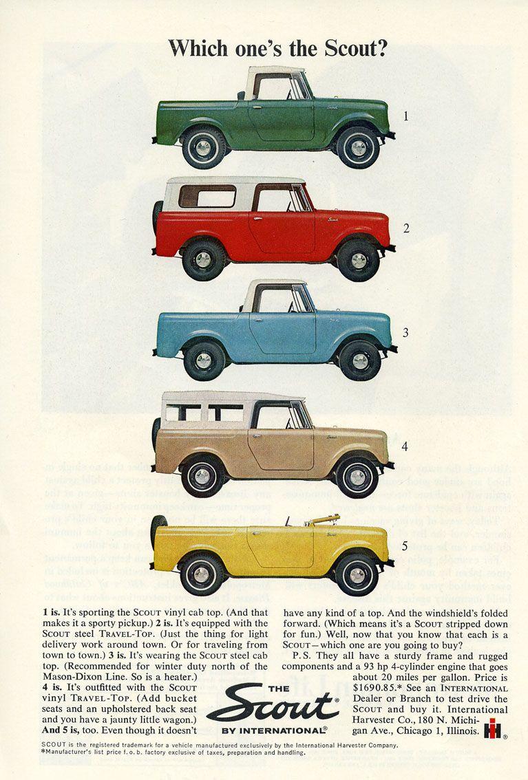 International Harvester Scout Ad My Secreats Pinterest - Cars international