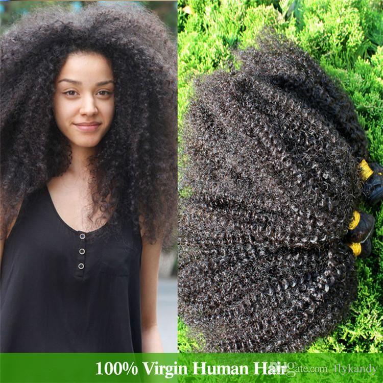 Cara Virgin Mongolian Tight Curly Hair 4pcs Or 5pcs Lot Mongolian