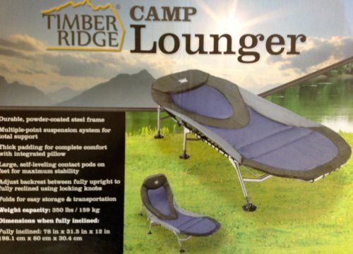 Timber Ridge Camp Lounger We Have These To Sleep On Very Comfy
