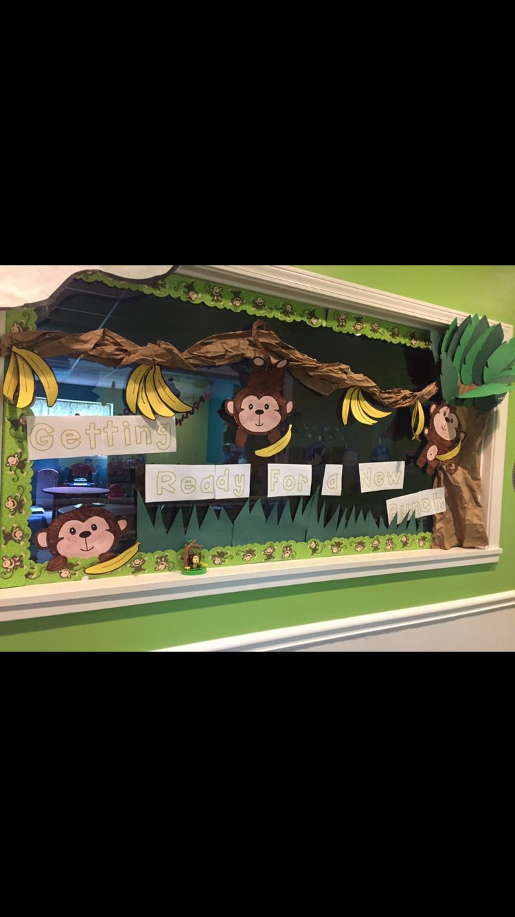 Go green vegetable bulletin board idea myclassroomideas com - Monkey Bulletin Board