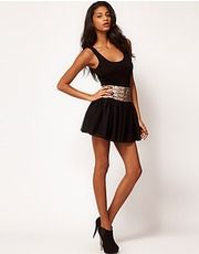 ASOS Fashion Finder | ASOS PETITE Exclusive Playsuit With Sequin Shorts