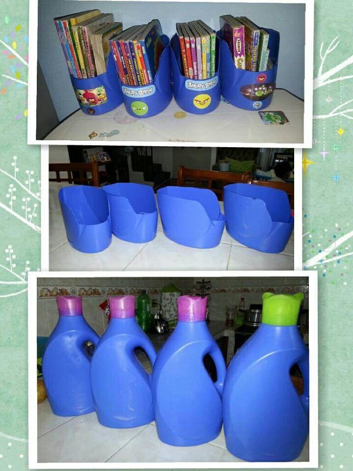 Garrafas De Pl 225 Stico Diy Magazine Holder Diy Plastic