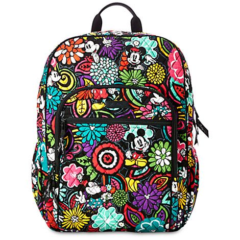 847e5b611324e Mickey s Magical Blooms Campus Backpack by Vera Bradley