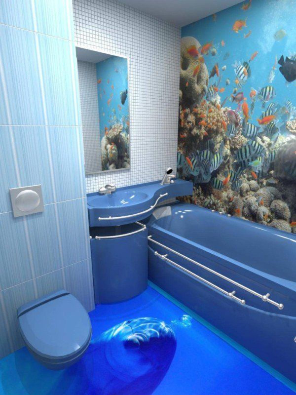 3d Bathroom Designs From Top Dreamer Lol At The Dolphin Blue Bathroom Interior Bathroom Flooring Floor Design