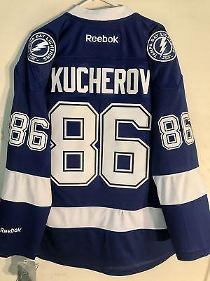 Hockey-NHL 24510  Reebok Premier Nhl Jersey Tampa Bay Lightning Nikita  Kucherov Blue Sz S -  BUY IT NOW ONLY   79.99 on eBay! 7d84f3d3a