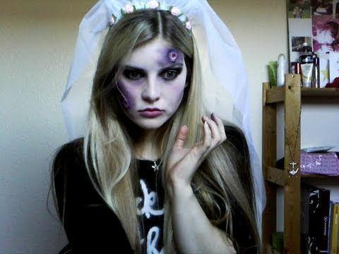 ▷ Halloween - Zombie Bride Make Up Tutorial - YouTube Halloween - zombie halloween ideas