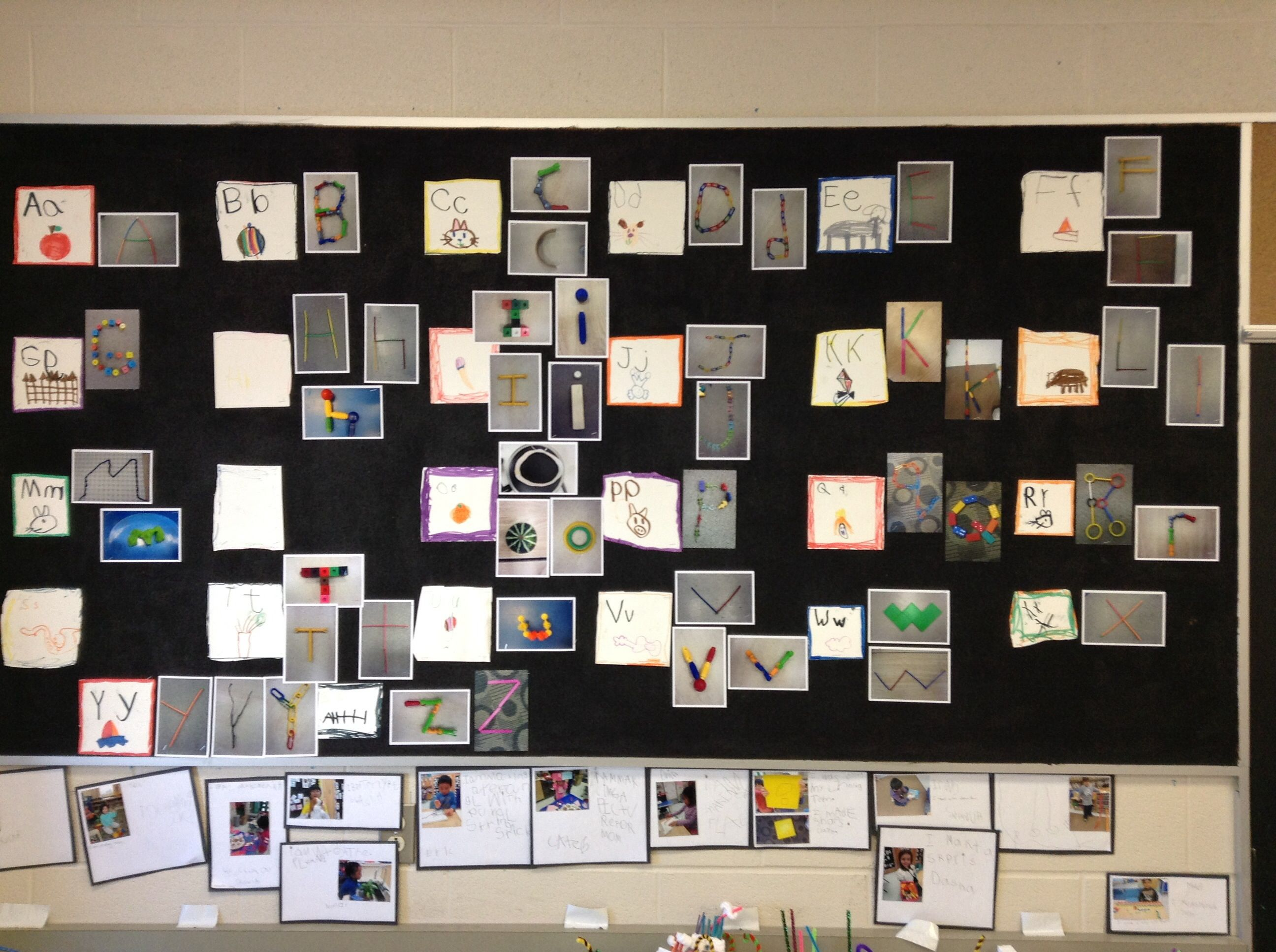 Student Created Alphabet They Drew Their Own Letter Cards
