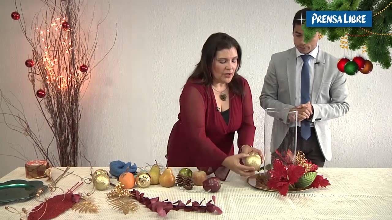 Centro mesa navide o con flor navidad decoraci n de - Decoracion mesa de navidad ...