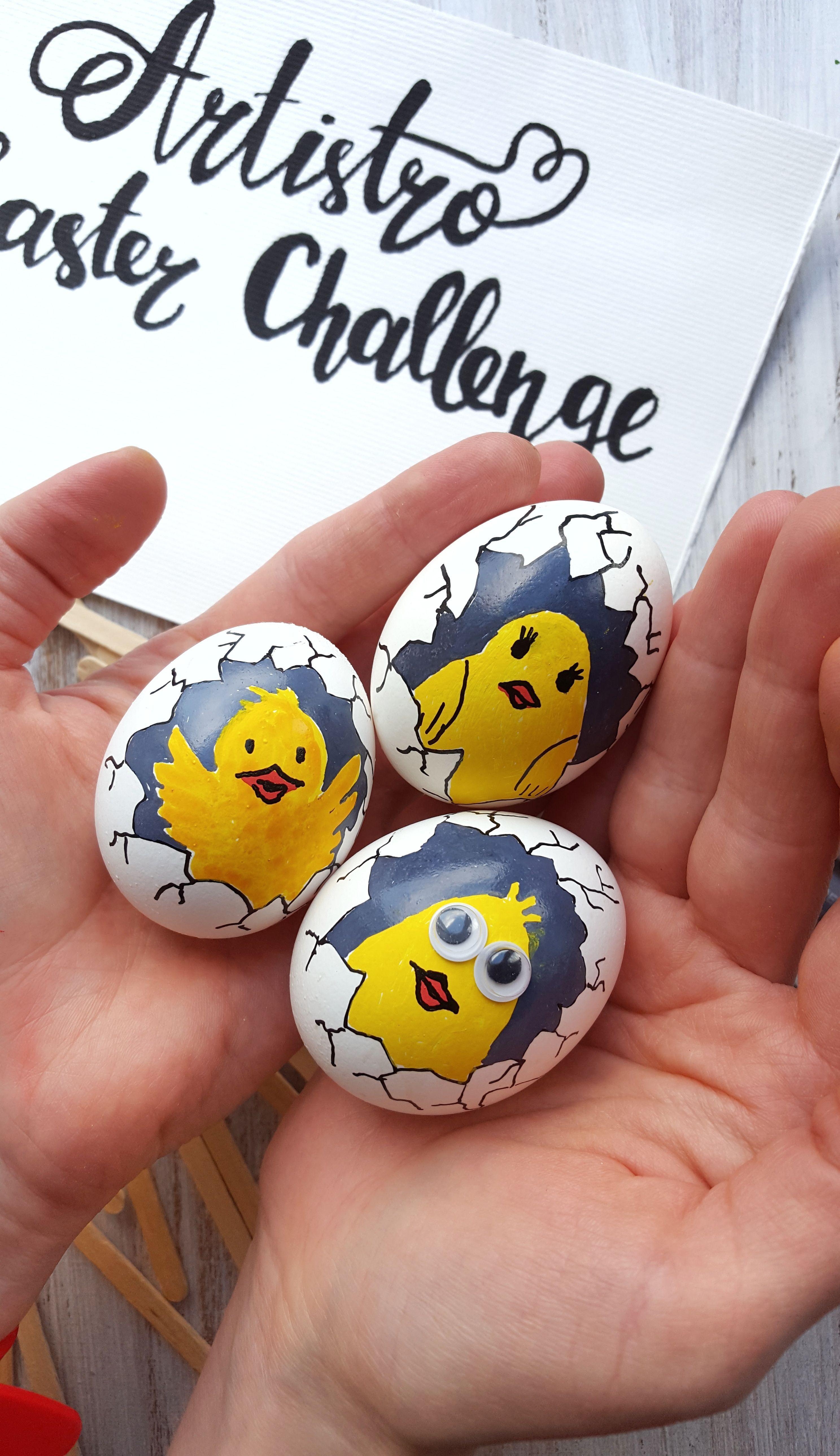 Small Easter keepsake wooden egg cute chick hand painted ornaments Easter basket filler egg hunt