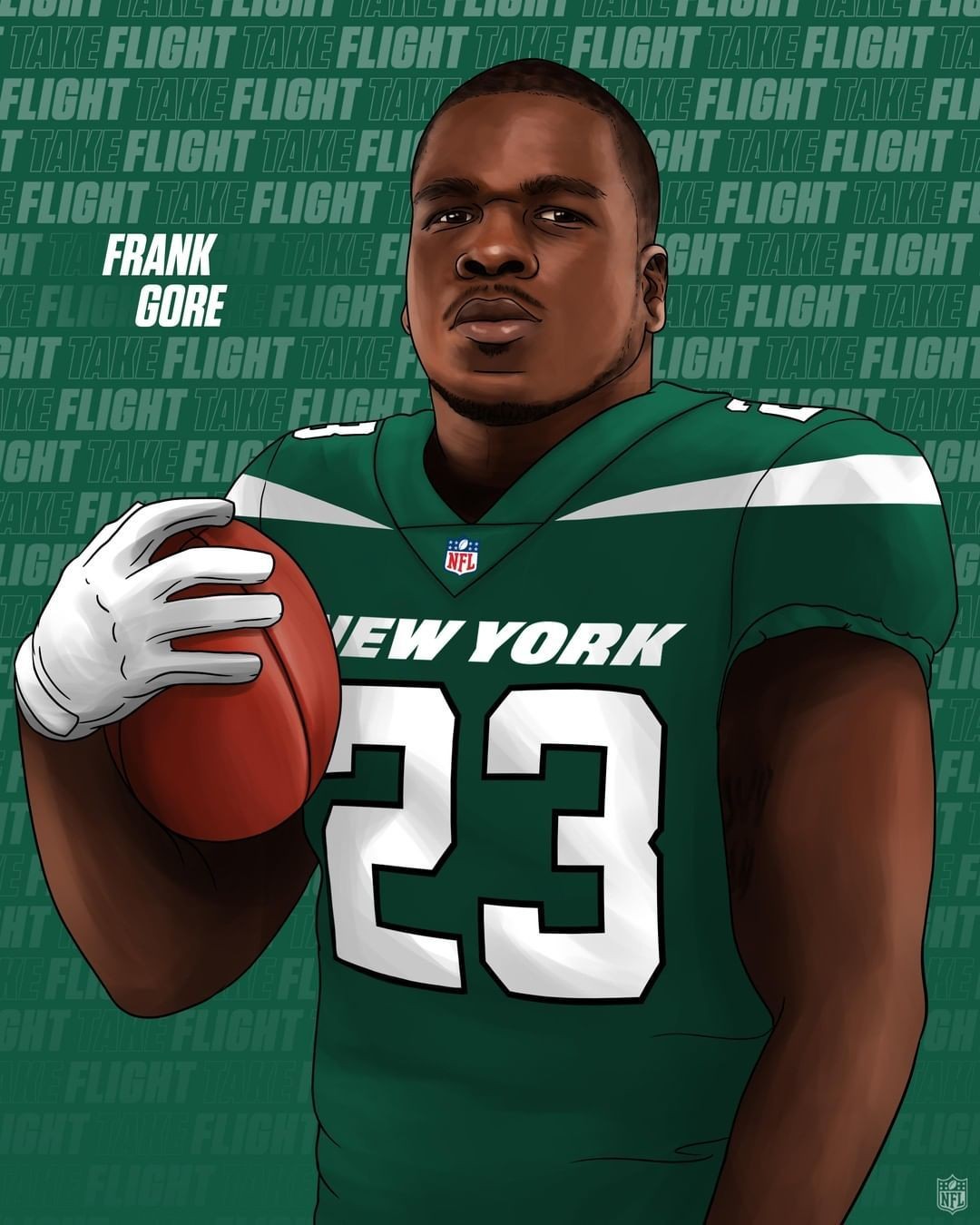 Nfl On Instagram 16th Season Welcome To The Nyjets Frankgore In 2020 Nfl Nfl Football Art Ravens Football