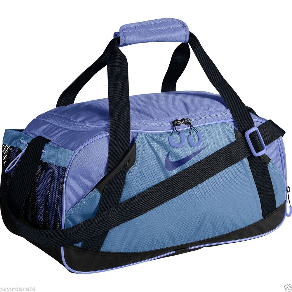 db595d2fa0 NIKE DUFFEL BAG DUFFLE TRAVEL GYM BAG MEDIUM TARPAULIN VARSITY GIRL PURPLE   NIKE
