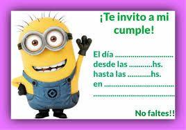 Resultado De Imagen De Invitaciones De Cumpleaños De Minions