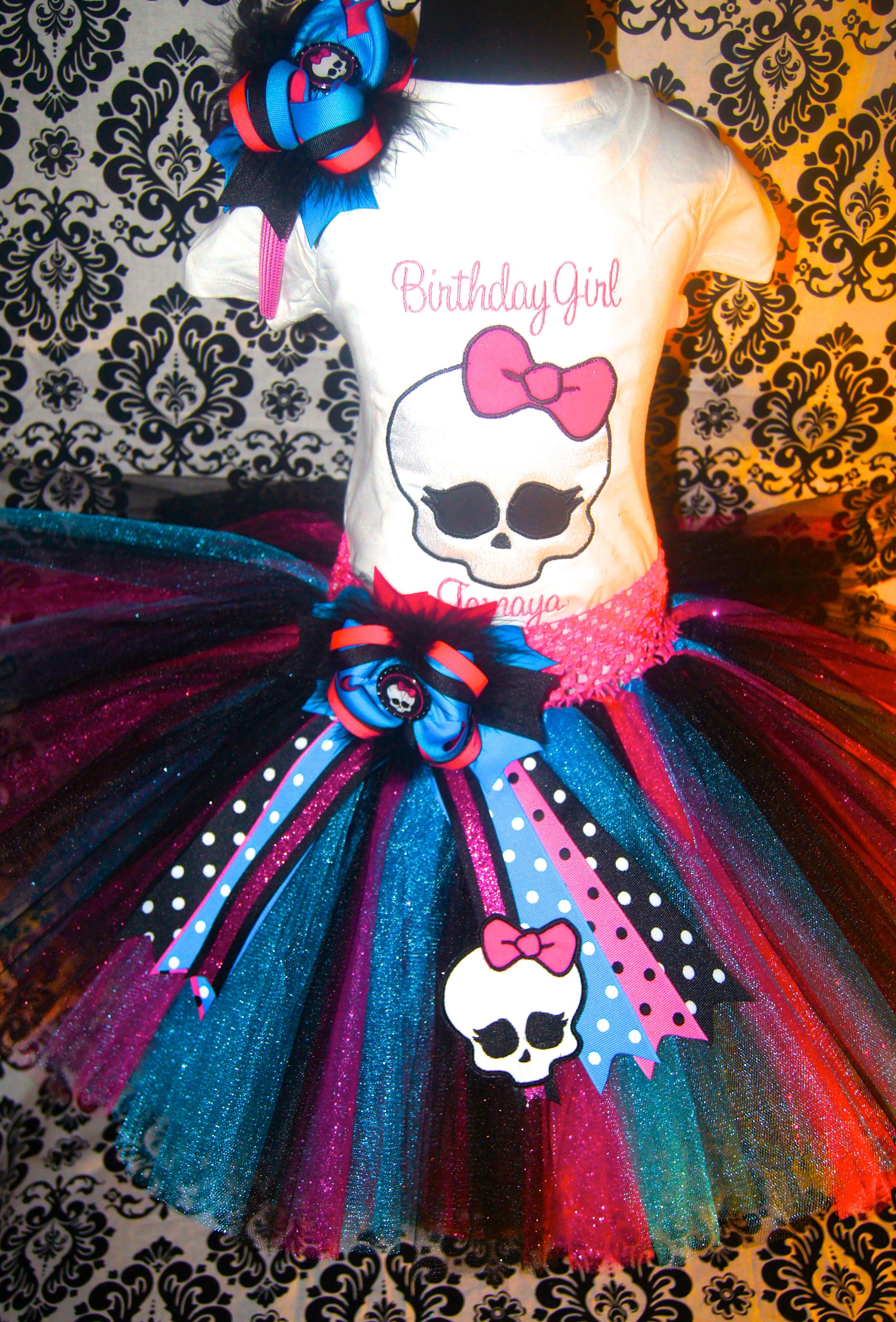Princess Demi Monster High Tutu Set Monster High Birthday Monster High Birthday Party Monster High Party