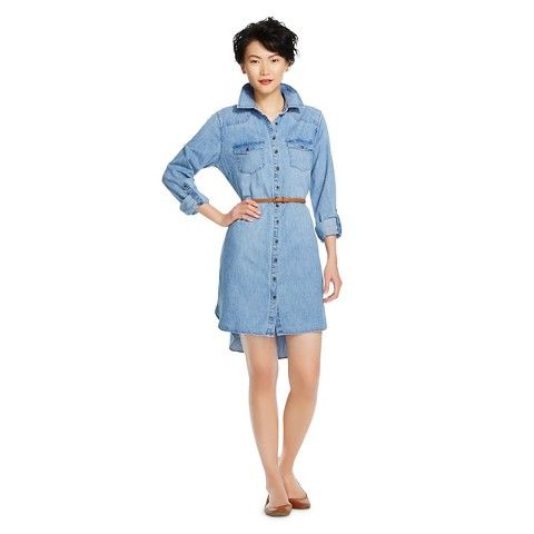 Women&39s Belted Denim Shirt Dress Denim Blue Merona®  Spring 2015 ...