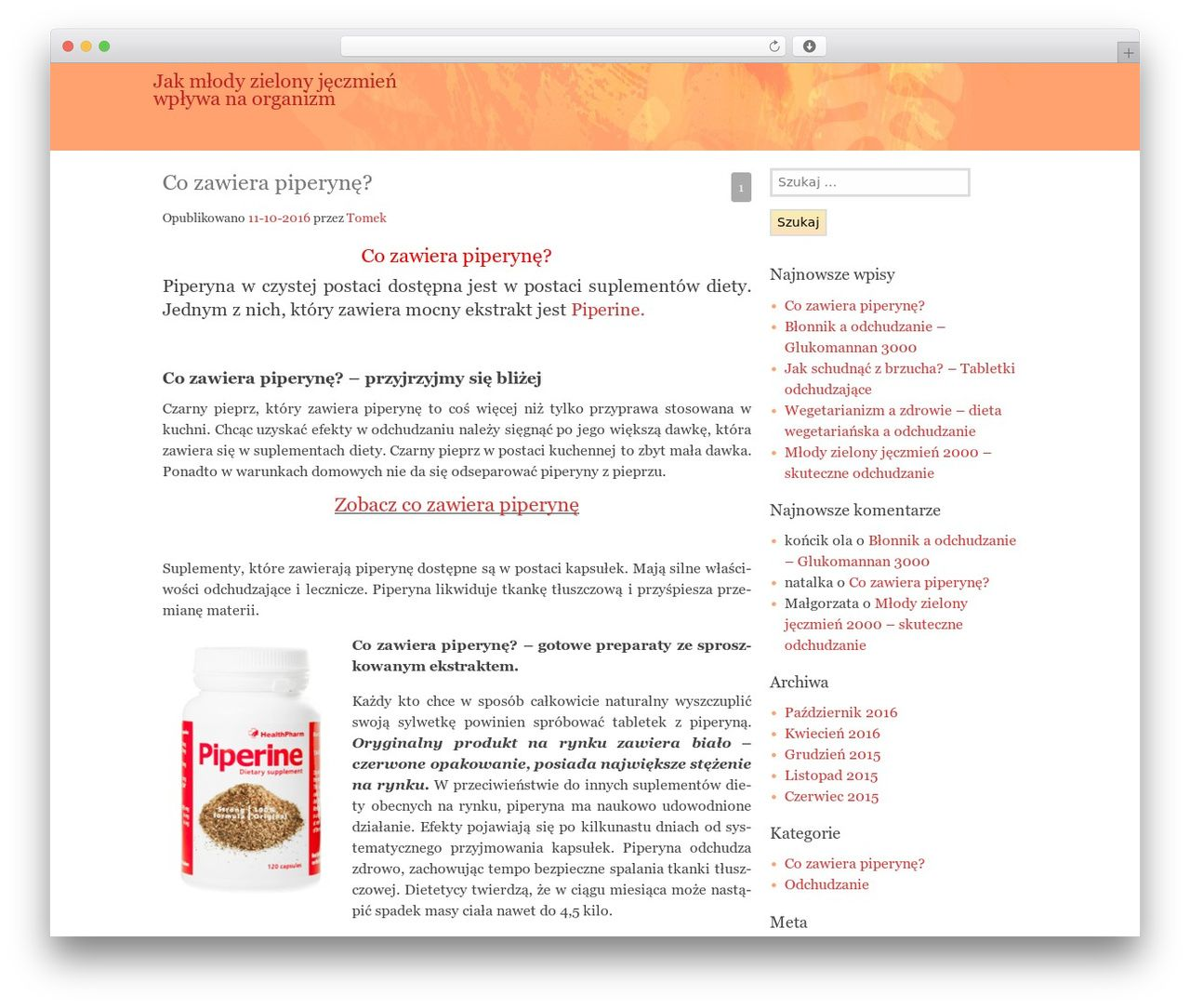 Theme WordPress Matisse - odchudzamsie.eu