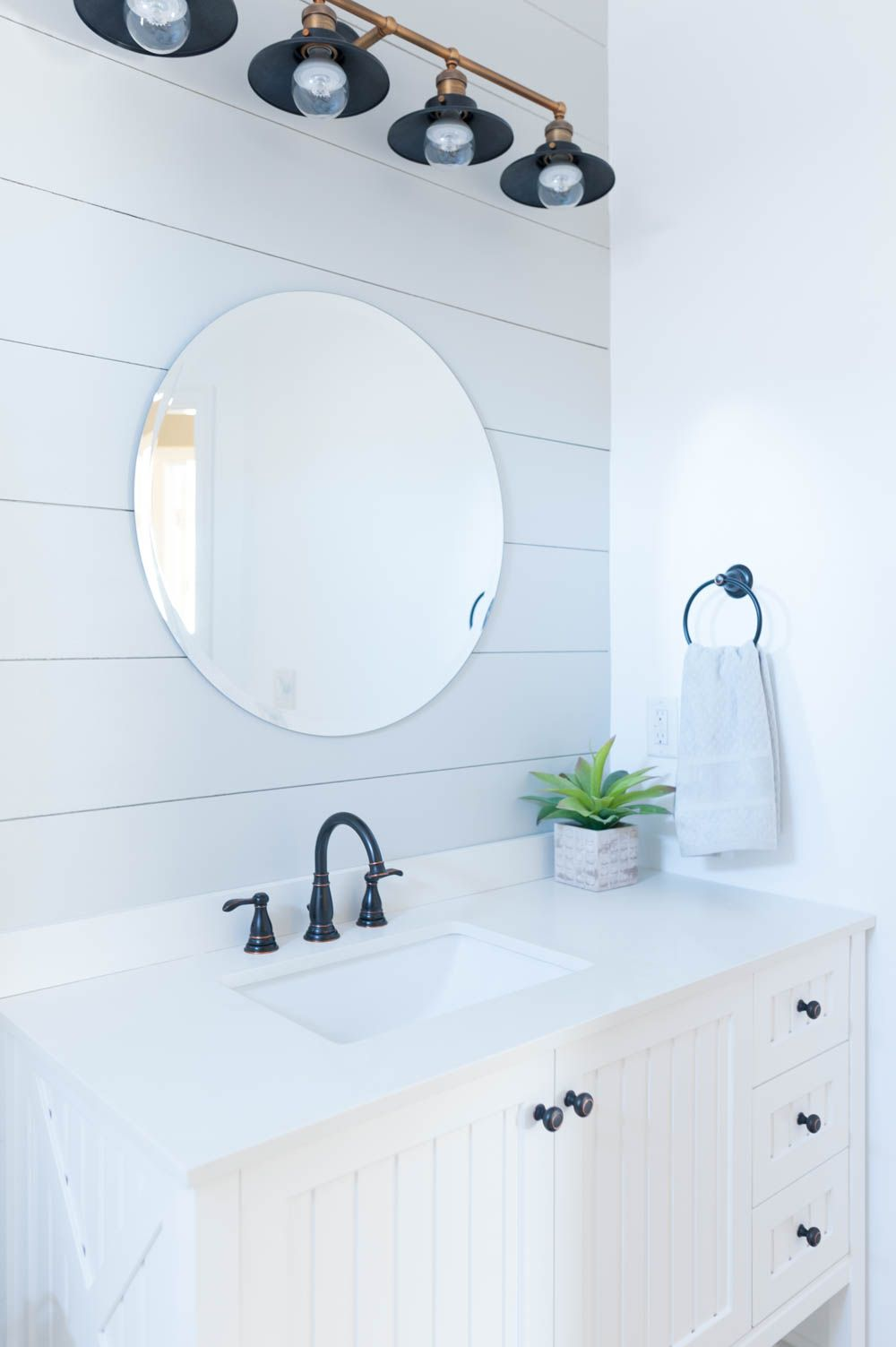 Grey and White Bathroom Renovation Reveal | Neutral color palettes ...