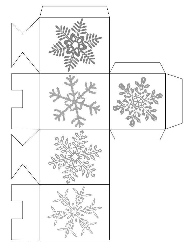 Snowflake Box Template Printable Christmas Pinterest Christmas