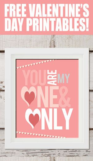 Free Printable of the Day - Visit How to Nest for Less to get a set of free Valentine printables, ready for a frame.