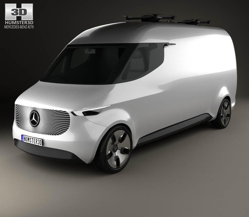 Mercedes benz vision van 2016 3d model from hum3d com