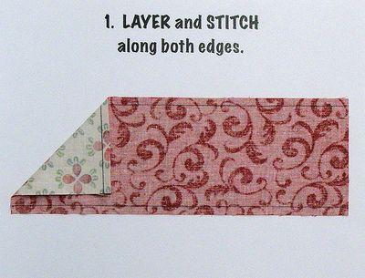 Triangles 1. layer and stitch