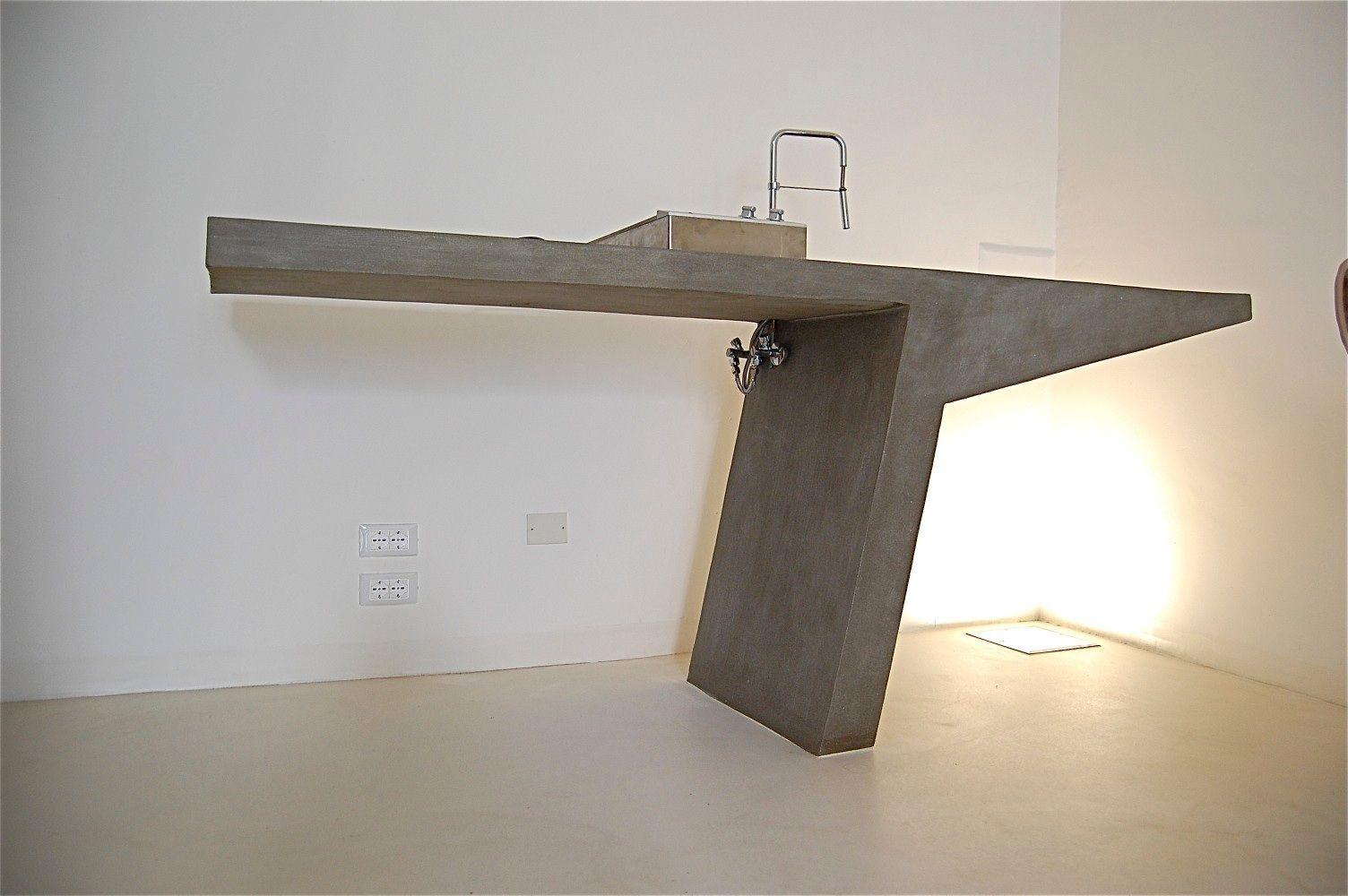 Cucina in cemento levigato francesco santoni architetto