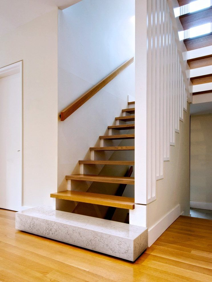Wall Mount Handrail Ideas Staircase Modern With Slatted | Modern Stair Handrail Wall Mounted