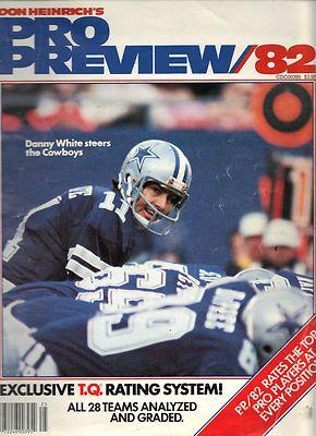 Don Heinrichs Pro Preview 1982 Danny White Nfl Pro Football Dallas