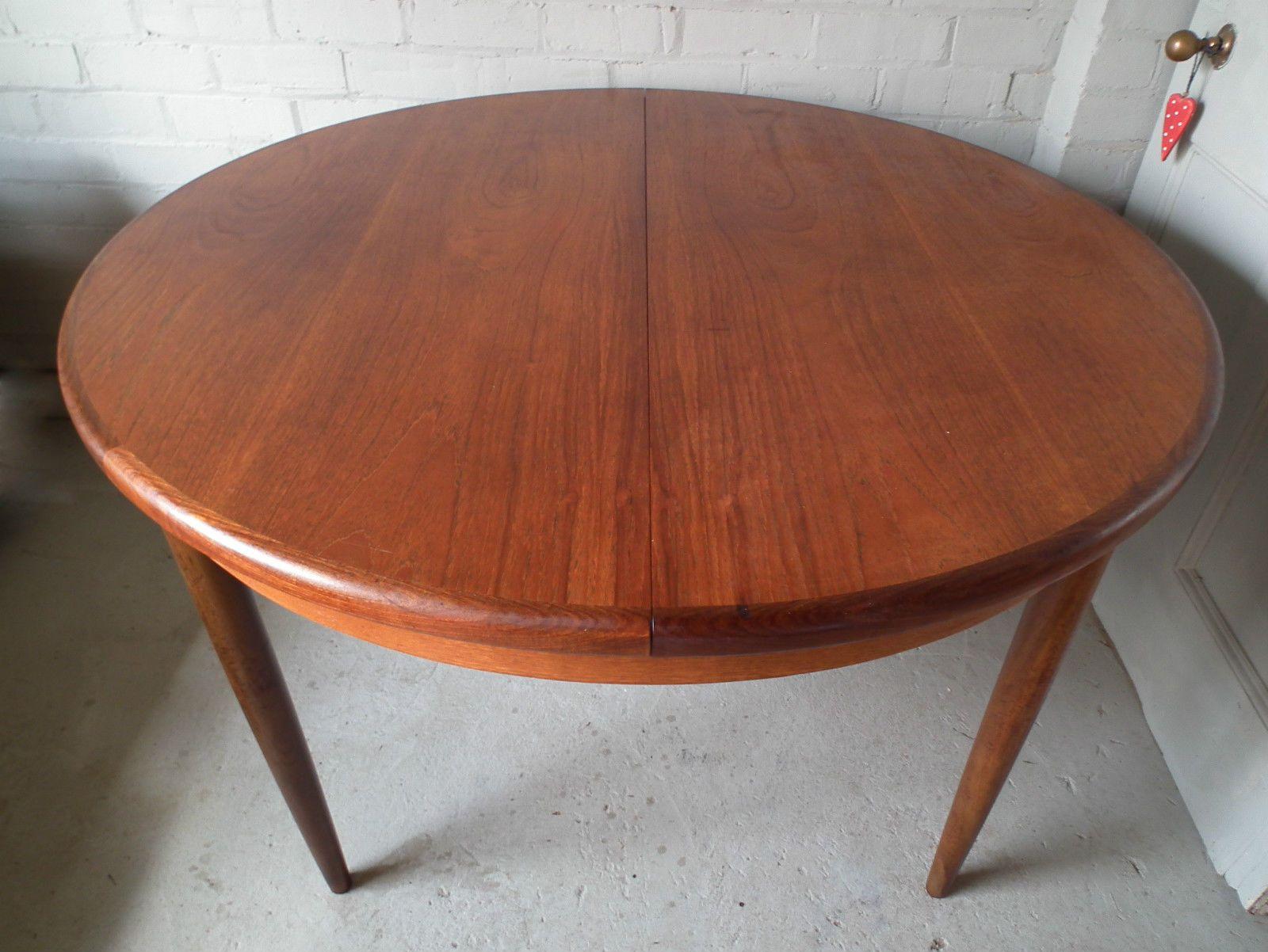 Vintage Retro Teak G Plan Fresco Round Extending Dining Table 60s