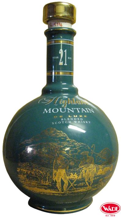 Highland Mountain Scotch Whisky Ceramic Decanter.