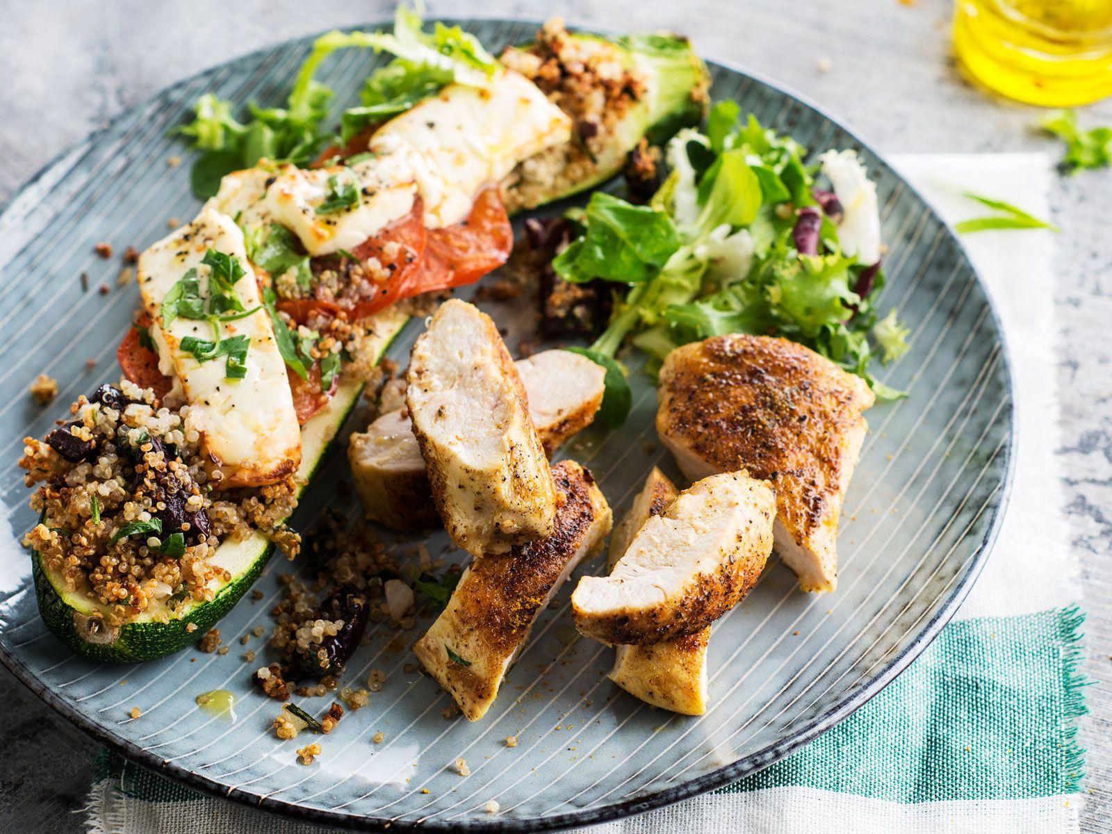 Courgette farcie au quinoa | Recette (avec images ...